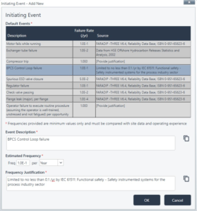 Adding Initiating Events - ProSET®