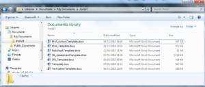 Report Templates Folder