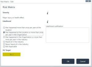Edit Risk Matrix Assessment