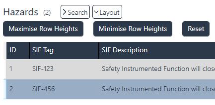ProSET - Maximise and Minimise row Heights