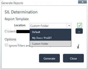 ProSET Report Generation Resource Location